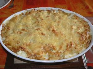 Gratin de macaronis de Cyril Lignac fin