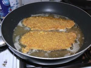 Escalopes de veau panées aux Curly etape2