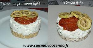 Cheesecake salé, legumes et basilic une