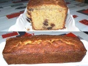 Cake à la pomme, à la cannelle et aux raisins presentation