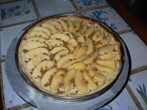 Tarte aux pommes, crème de mascarpone et miettes de spéculoos etape6