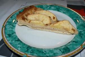 Tarte aux pommes, crème de mascarpone et miettes de spéculoos fin