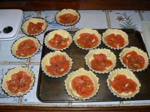 Tartelettes à la tomate et fourme d'Ambert etape2