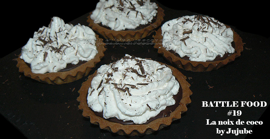 Tartelettes choco-coco, chantilly à la crème de coco slider