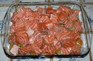 Blanquette de saumon au four etape2