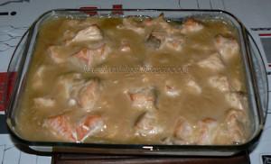 Blanquette de saumon au four fin
