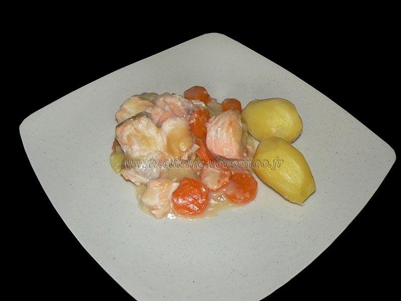 Blanquette de saumon au four presentation