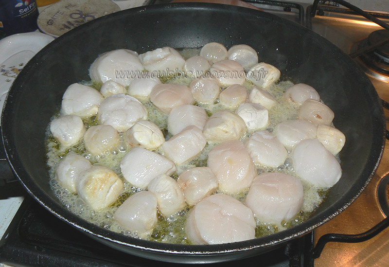 Noix de St Jacques, sauce au cidre etape4