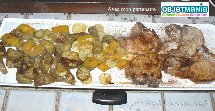 Côtes de porc et legumes marines slider