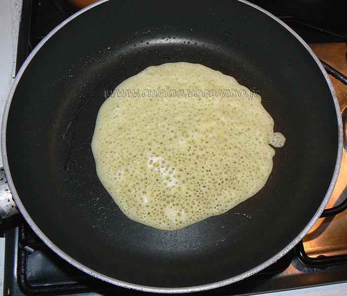 Baghrir ou crepes mille trous etape2