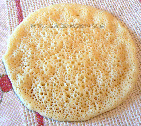 Baghrir ou crepes mille trous fin