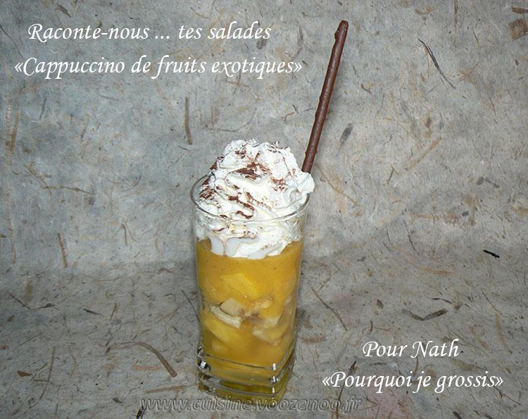 Cappuccino de fruits exotiques presentation