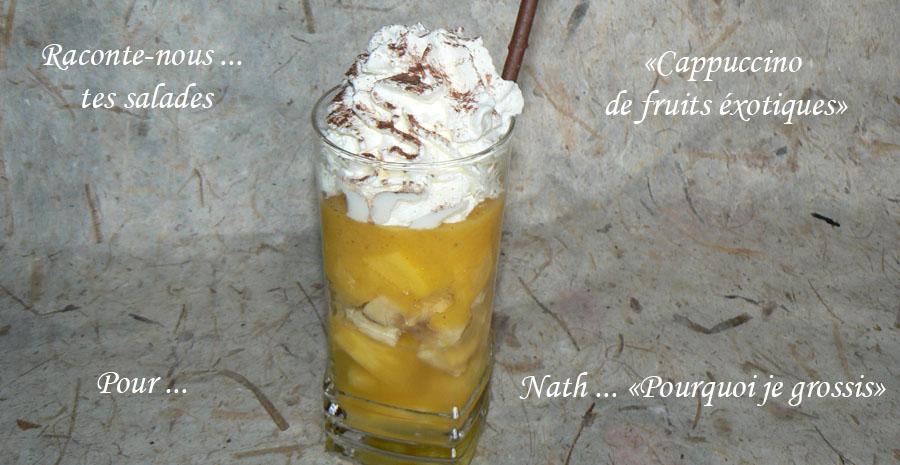 Cappuccino de fruits exotiques slider