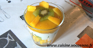 Verrines kiwi, mangue une