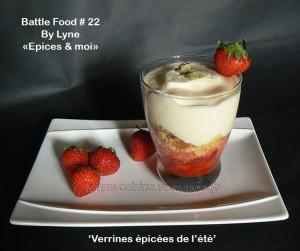 Tiramisu aux fraises marinées à la cardamome presentation