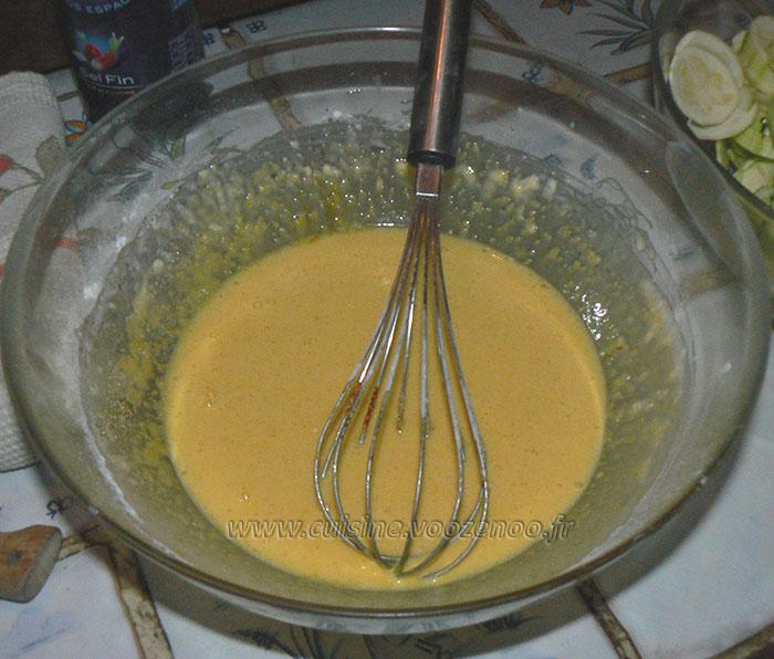 Gâteau invisible aux courgettes etape2