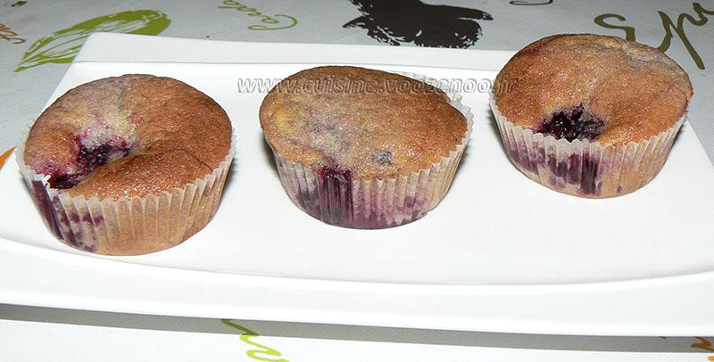 Muffins aux mûres presentation