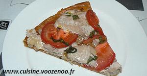 Tarte feuilletée fine au thon frais et tomates