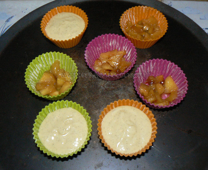 Cupcake façon tatin et sa sauce etape3