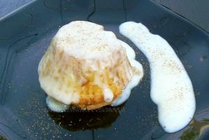 Cupcake façon tatin et sa sauce fin