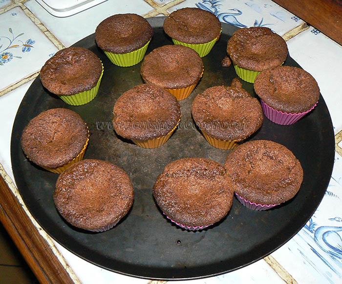 Muffins crème d emarron coeur de chocolat fin