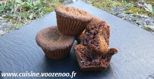 Muffins Crème de marron, Coeur de chocolat