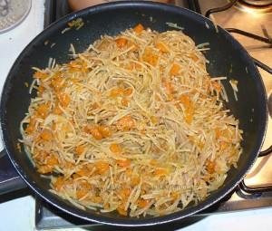 Bouchées aux carottes, pommes de terre et comté etape2