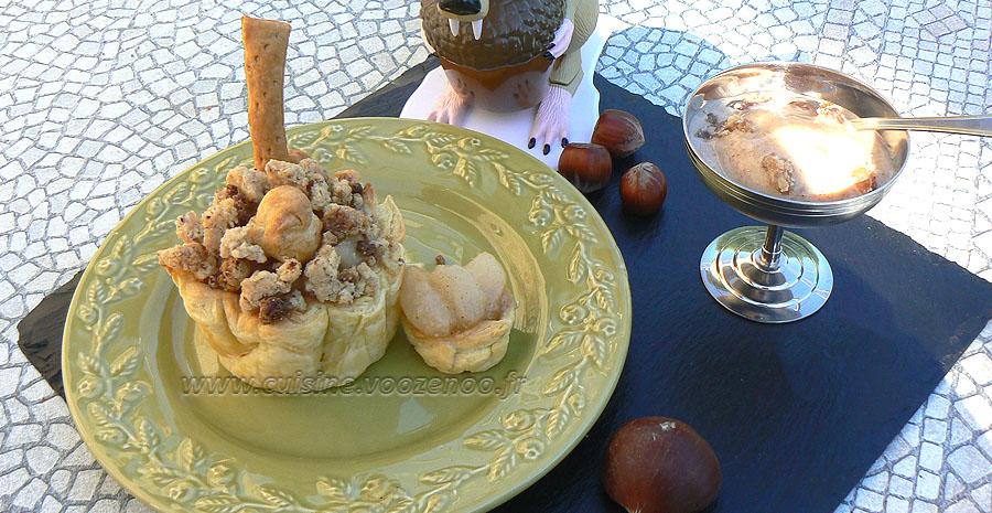 Cocottes de fruits d'automne en chaud et froid slider