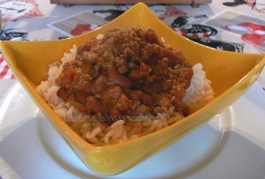 Chili con carne express presentation