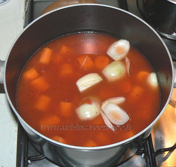 Velouté aux carottes et pois chiches etape1