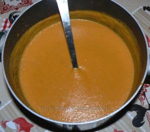 Velouté aux carottes et pois chiches fin