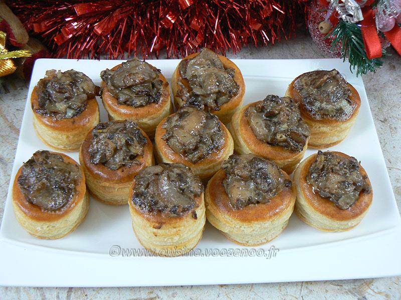 Mini bouchees champignons gorgonzola mascarpone fin