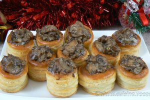 Mini bouchees champignons gorgonzola mascarpone slider