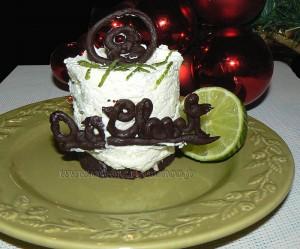 Cheesecake au citron vert et chocolat  fin