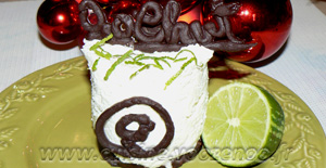 Cheesecake au citron vert et chocolat