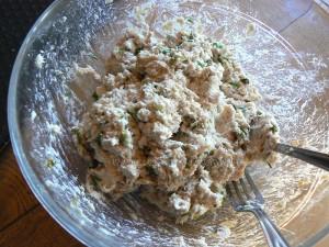 Feuilleté de saumonette au brocciu coulis epice etape3