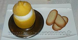 Citrons givrés (avec ou sans sorbetière)