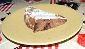 Moelleux au chocolat et ricotta presentation