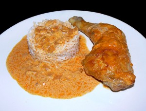 Cuisses de poulet au paprika en papillotes presentation