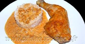 Cuisses de poulet au paprika en papillotes une