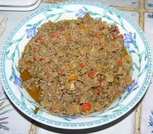 Batbouts farcis a la viande et aux legumes, sauce epicee etape4