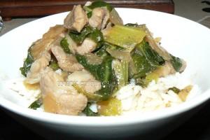 Sauté de porc au Bok Choy