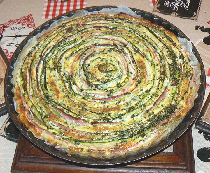 Tarte spirale aux courgettes et carottes presentation