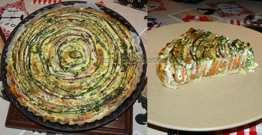 Tarte spirale aux courgettes et carottes slider
