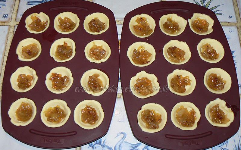 Mini tartelettes aux oignons confits et chèvre etape2