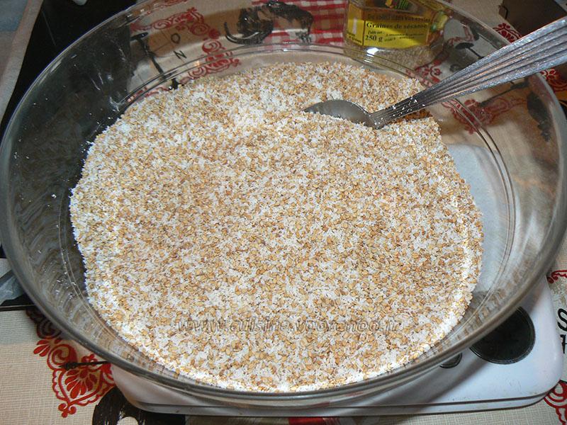 Barres au miel et aux graines de sésame étape1