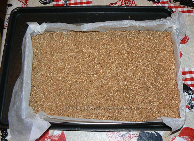Barres au miel et aux graines de sésame étape3