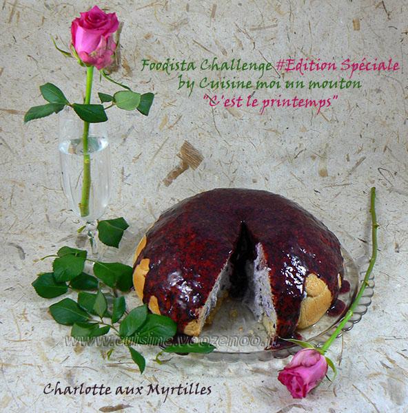 Charlotte aux myrtilles presentation
