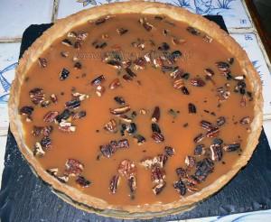 Tarte aux 2 chocolats, caramel et noix de pecan etape5