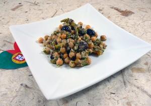Salade portugaise aux pois chiches presentation